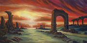 Roman Columns Painting Prints - Another Fallen Empire Print by James Christopher Hill
