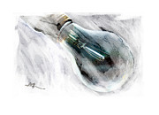 Light Bulb Digital Art Posters - Another Good Idea .... Poster by Bob Salo