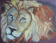 Lion Pastels - Another Lion by Beryl Stewart