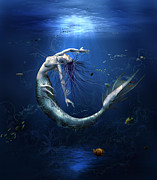 Mermaid Artwork Digital Art - Another miss-understood world I by Amalia Iuliana Chitulescu