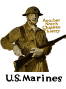 Marines Framed Prints - Another Notch Chateau Thierry Framed Print by War Is Hell Store