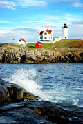 New England Ocean Framed Prints - Another Nubble Framed Print by Greg Fortier