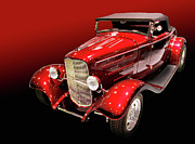 Classic Ford Roadster Framed Prints - Another red rod Framed Print by Bill Dutting