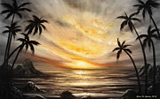 Sunset Originals Framed Prints - Another Sunset in Paradise 677 Framed Print by Gina De Gorna