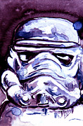 Storm Trooper Paintings - Another Trooper by Jacqueline Kinsey