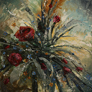 Bouquet Of Roses Posters - another Year Poster by Michael Lang