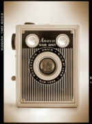 Sepia Tone Digital Art - Ansco Shur Shot by Mike McGlothlen