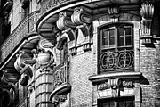 Light And Shadows Framed Prints - Ansonia Building Detail 36 Framed Print by Val Black Russian Tourchin