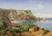 Britain Paintings - Anstys Cove by John William Salter