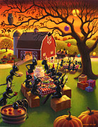 Fall Scene Posters - Ant Party Poster by Robin Moline