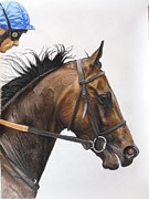 Thoroughbred Pastels Framed Prints - Antara Frankie Dettori up Framed Print by Dagmar Galleithner