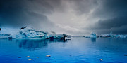 Ice Metal Prints - Antarctic Iceberg Metal Print by Michael Leggero