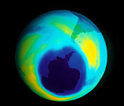 Polluted Prints - Antarctic Ozone Hole Print by NASA / Science Source