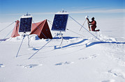 Solar Panel Prints - Antarctic Research Print by David Vaughan