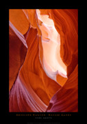 Navajo Lands Posters - Antelope Canyon Poster by Carl Amoth