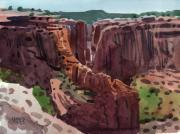 Canyon Painting Originals - Antelope House Overlook 2006 by Donald Maier