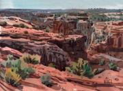 Canyon Painting Originals - Antelope House Vista by Donald Maier