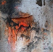 African Art Paintings - Antelope Migration by Ingrid  Albrecht