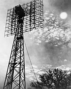 Radio Waves Framed Prints - Antenna Tower From Which The First Framed Print by Everett