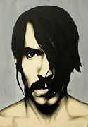 Portraits Tapestries Textiles Metal Prints - Anthony Kiedis Metal Print by Antony Bagley