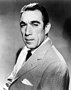 Publicity Shot Framed Prints - Anthony Quinn, United Artists Publicity Framed Print by Everett