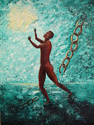 Stage Painting Originals - Anthonys Chains by Carolyn Bonanno