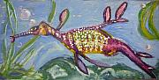 Sea Dragon Paintings - Anthropomorphic Sea Dragon 2 by Michelley QueenofQueens
