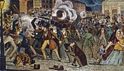Anti Discrimination Prints - Anti-catholic Mob, 1844 Print by Granger
