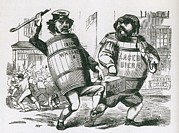 Caricatures Art - Anti-immigrant Cartoon Showing Two Men by Everett