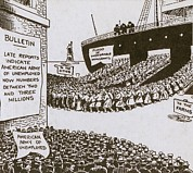 Political-economic Prints - Anti-immigration Cartoon Of Shows Print by Everett