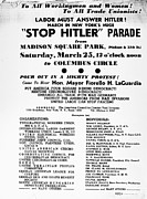 Handbill Framed Prints - Anti-nazi Protest, 1939 Framed Print by Granger