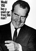 Nixon Framed Prints - Anti-nixon Poster, 1960 Framed Print by Granger
