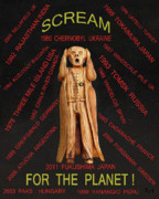 Scream World Tour Framed Prints - Anti Nuclear Framed Print by Eric Kempson