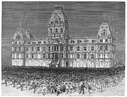 Mob Prints - Anti-vaccination Riot, 1885 Print by Granger