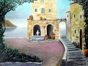 Antica Villa Sul Mare Print by Larry Cirigliano