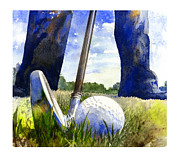 Golf Painting Posters - Anticipation Poster by Andrew King