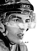 Hockey Drawings - Anticipation by Kayleigh Semeniuk