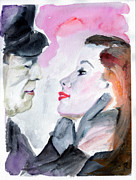 Bacall Posters - Anticipation of a Kiss  Poster by Ginette Callaway