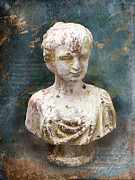 Old Mixed Media Metal Prints - Antico Metal Print by Viaina