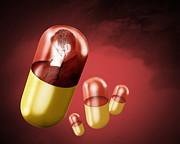 Antidepressant Medication Print by Victor Habbick Visions