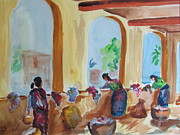 Mayan Paintings - Antigua Laundry 3 by Stewart Haile