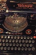 Outmoded Metal Prints - Antiquated Typewriter Metal Print by Jutta Maria Pusl