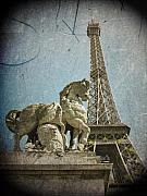 Vintage Eiffel Tower Metal Prints - Antiquation Metal Print by Andrew Paranavitana