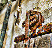 Pulley Prints - Antique - Door Rail - Rusty Print by Paul Ward