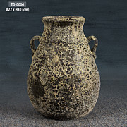 Canvas Ceramics - Antique 2 handle Jar by Thien Phu Fine Arts