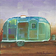 Faith Frykman Posters - Antique Airstream Poster by Faith Frykman