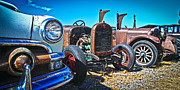 Antique Auto Sales Print by Steve McKinzie