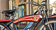 Old Bikes Posters - Antique Bikes Poster by Brian Mollenkopf