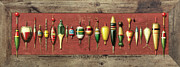 Hand Made Metal Prints - Antique Bobbers Metal Print by JQ Licensing