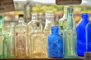 Tamera James Prints - Antique Bottles Print by Tamera James